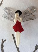Dragonfly Fairy by Lea Stein - Red Sparkle Dress (SOLD)